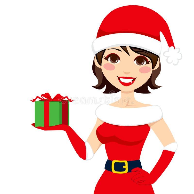 Presente de Papai Noel ilustração do vetor
