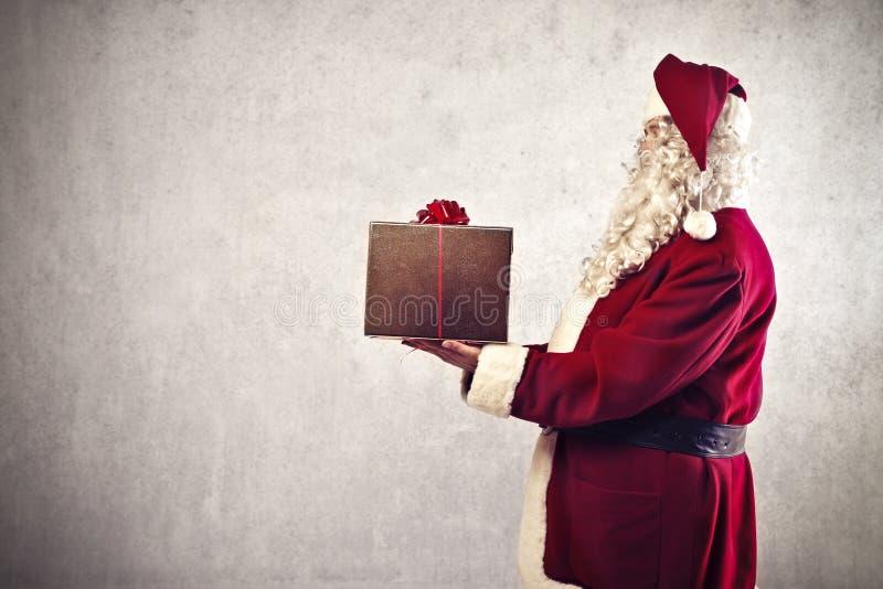 Presente de Papai Noel fotografia de stock royalty free