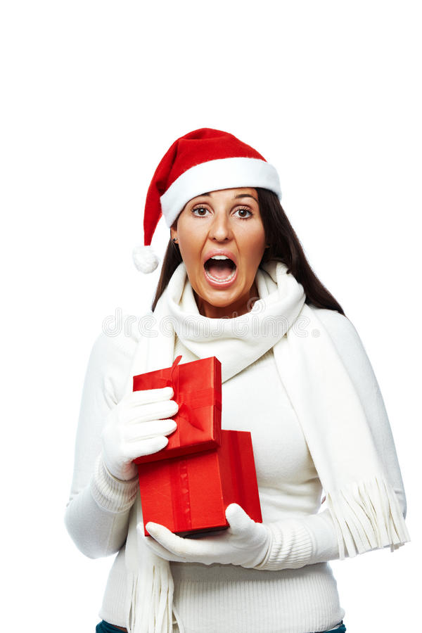 Presente decepcionante do Natal imagens de stock