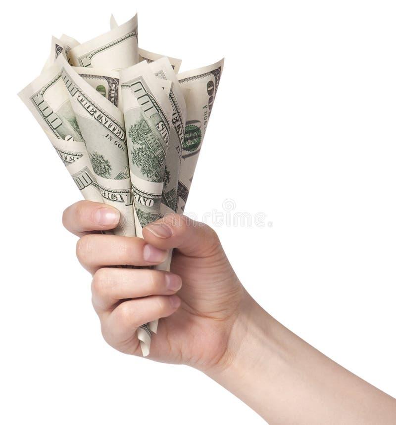 Presente del concepto del asunto de la flor del dinero foto de archivo