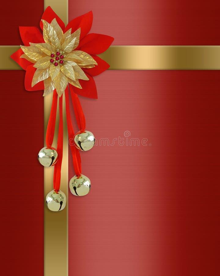 Presente del rojo de la frontera de la Navidad stock de ilustración