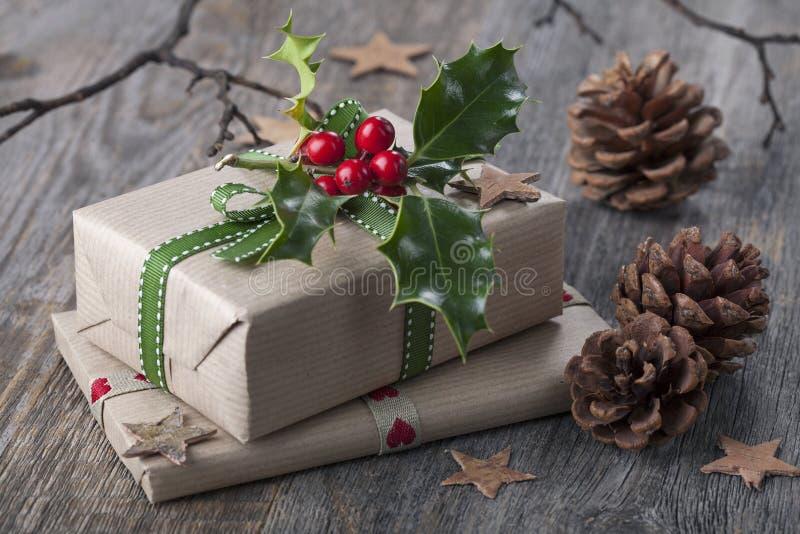 Presente dell'annata di Natale immagine stock libera da diritti