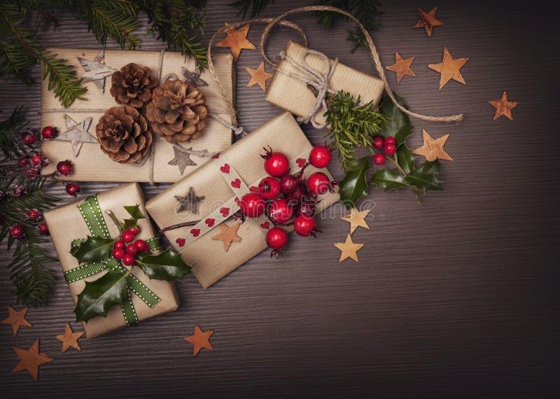 Presente dell'annata di Natale fotografia stock