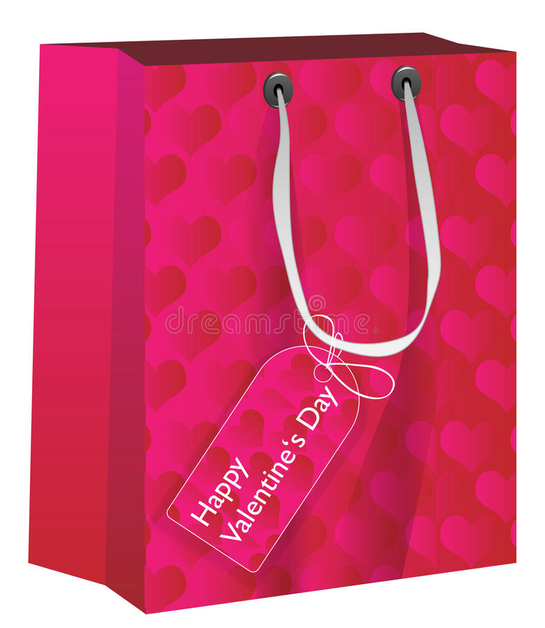Presente di giorno del biglietto di S. Valentino illustrazione di stock