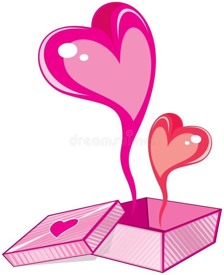 Presente do amor ilustração stock