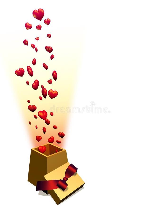Presente do amor ilustração royalty free