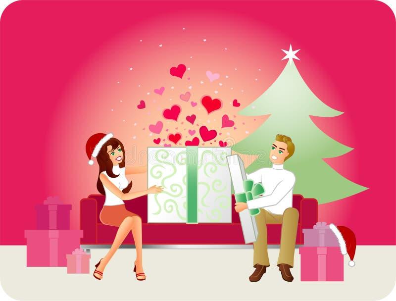 Presente do amor - versão do Natal ilustração royalty free
