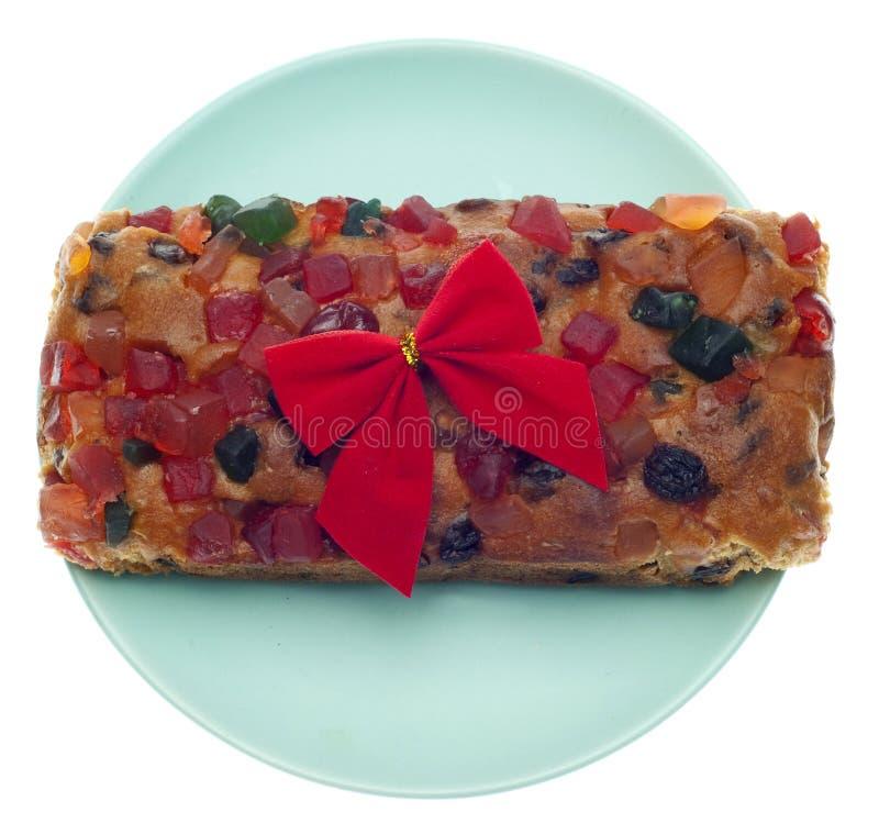 Presente do bolo da fruta do feriado fotos de stock
