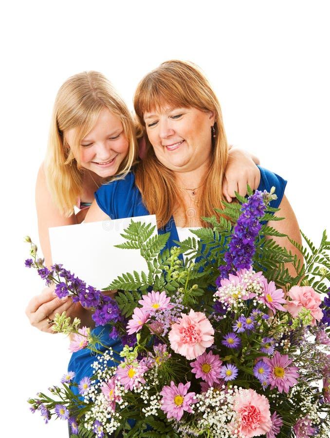 Presente do dia de mães foto de stock