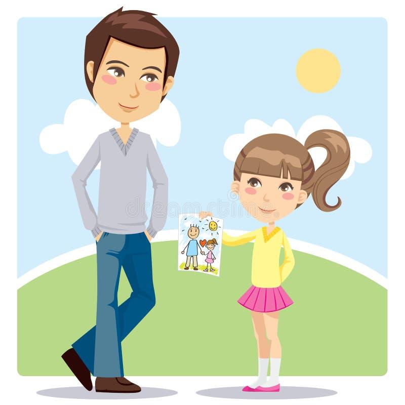 Presente do dia de pai ilustração do vetor