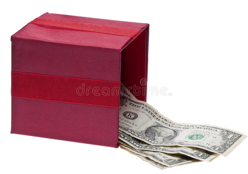 Presente do dinheiro fotos de stock royalty free