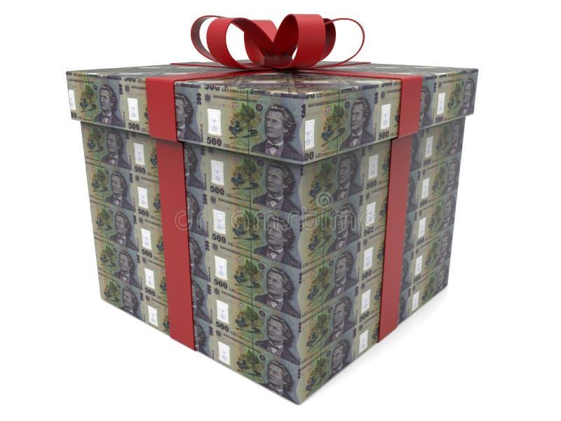 Presente do dinheiro de 500 RON ilustração do vetor