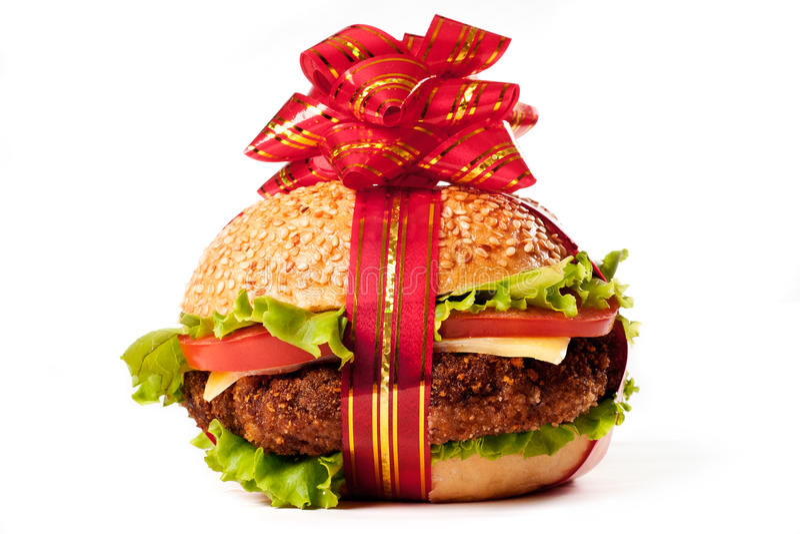Presente do Hamburger imagens de stock