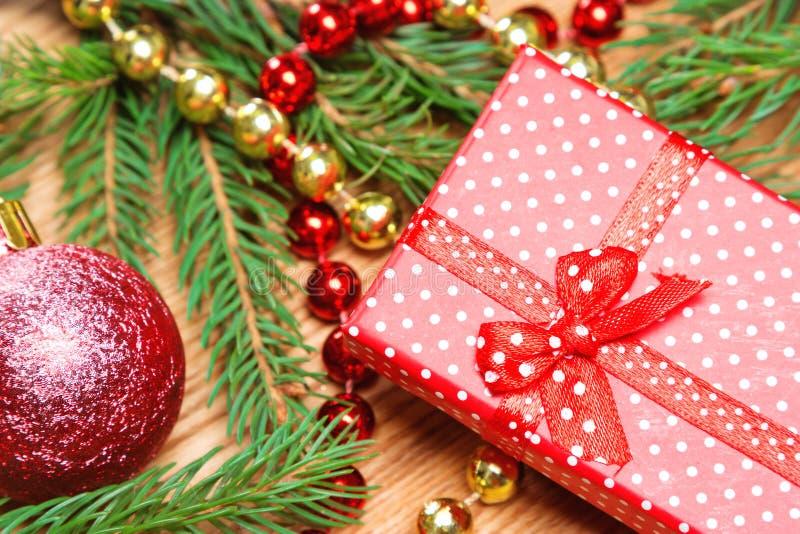 Presente do Natal e do ano novo fotografia de stock