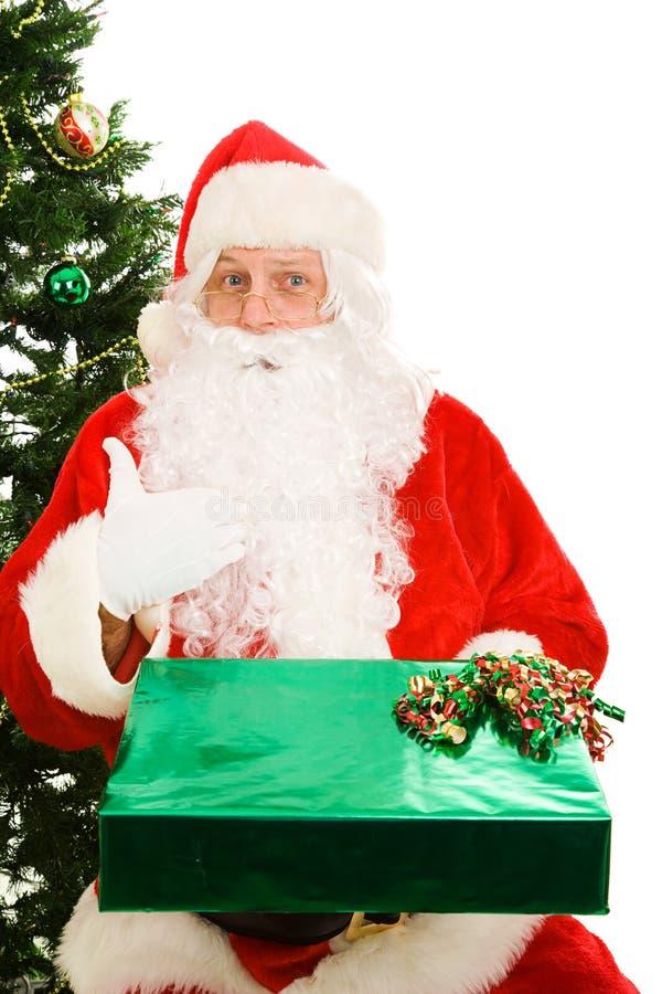 Presente do Natal para Santa foto de stock