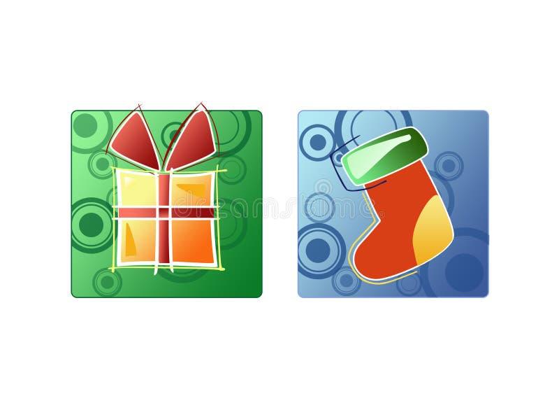 Presente do presente do Natal ilustração royalty free