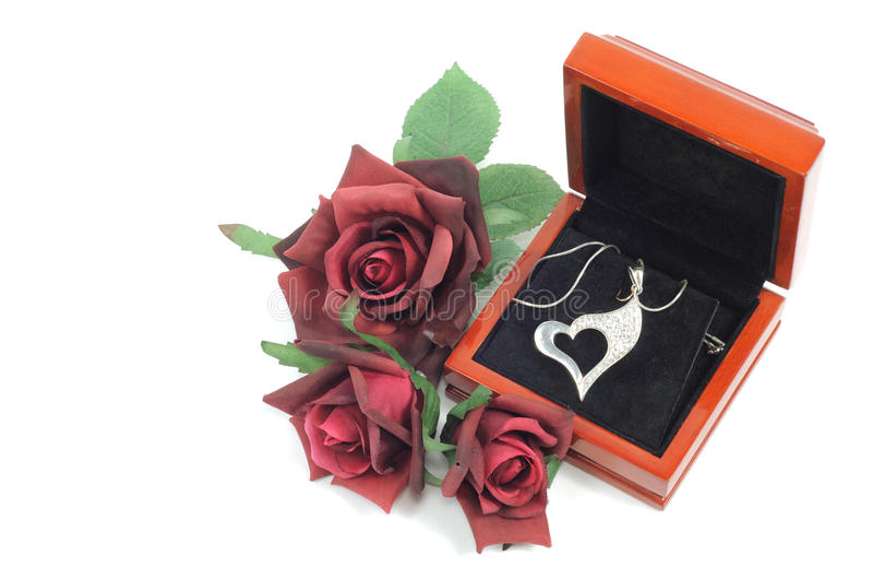Presente do Valentim fotografia de stock royalty free
