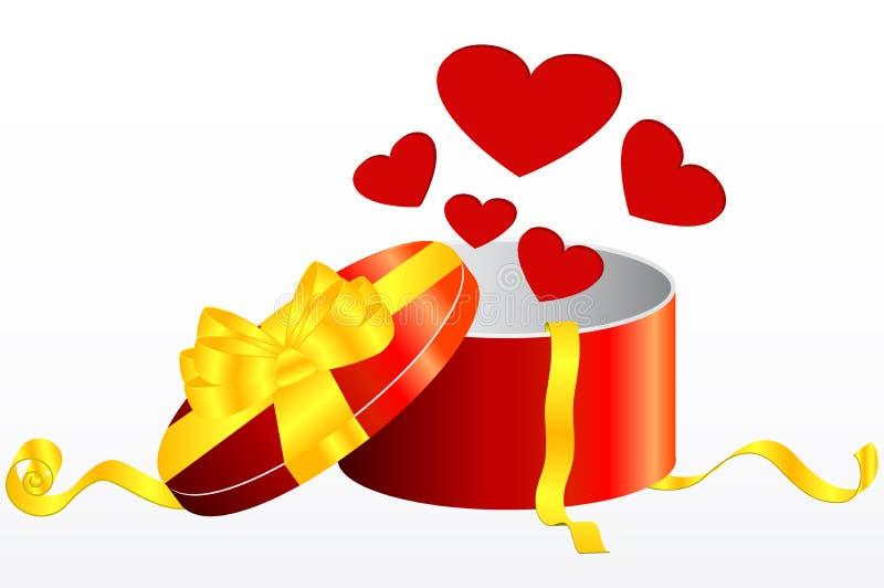 Presente do Valentim ilustração stock