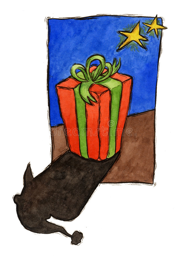 Presente ed ombra di clais della Santa illustrazione di stock