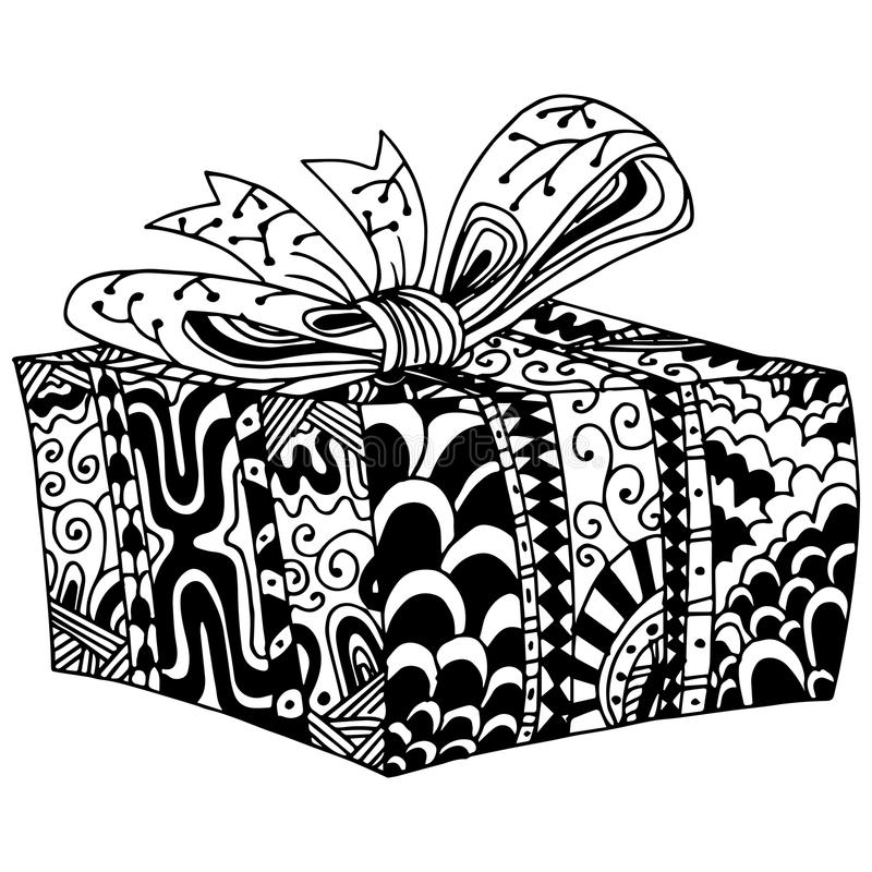 Presente envolvido na caixa ilustração royalty free