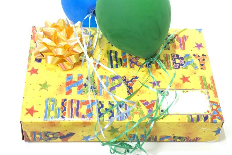 Presente genérico do feliz aniversario fotografia de stock royalty free