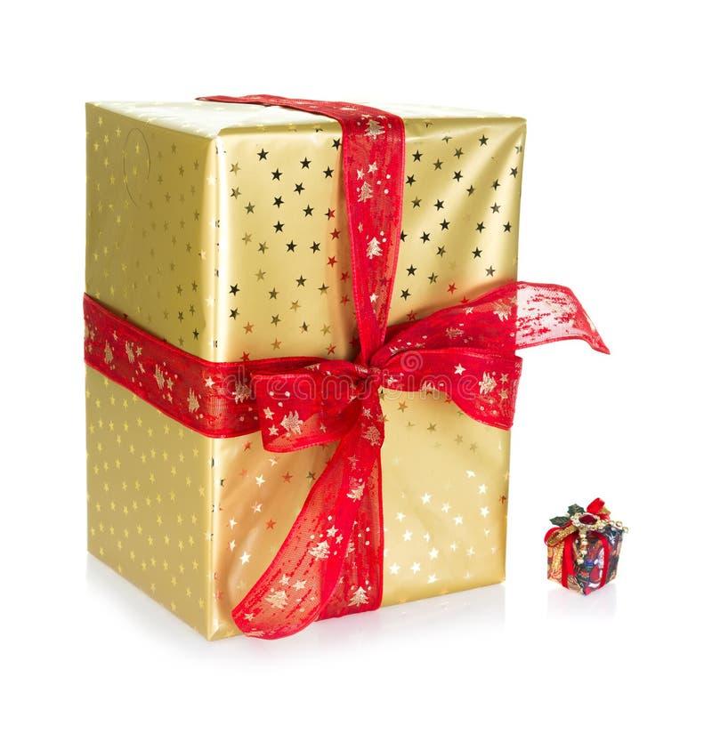 Presente Grande Y Pequeño Imagen de archivo libre de regalías