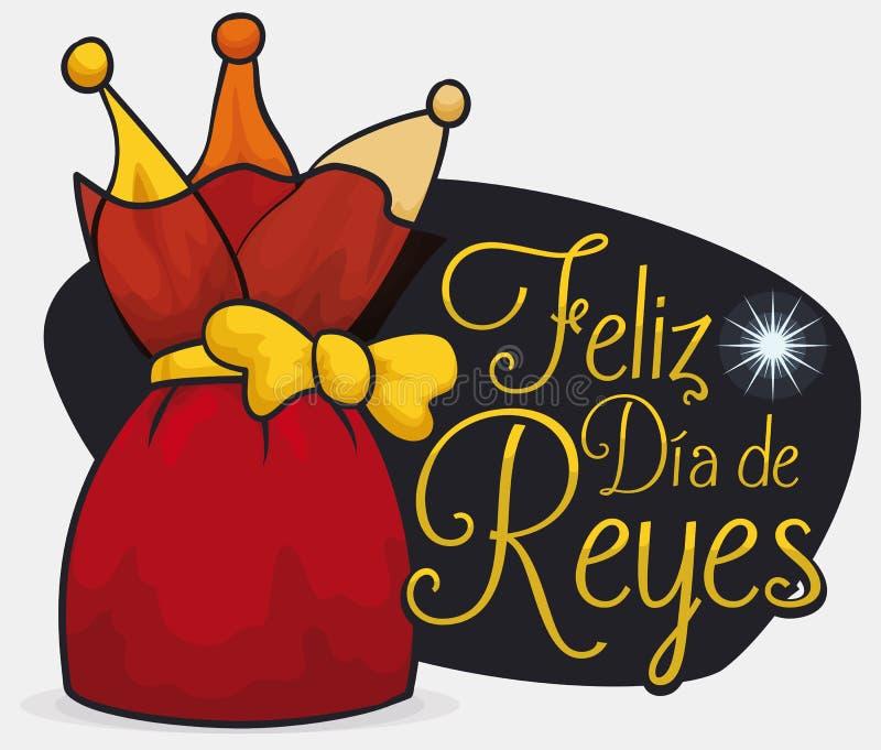 Presente para celebrar el español Dia de Reyes con la estrella de Belén, ejemplo del vector libre illustration
