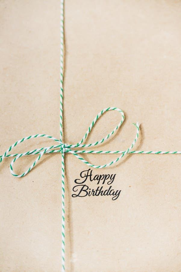 Presente para o aniversário imagem de stock royalty free
