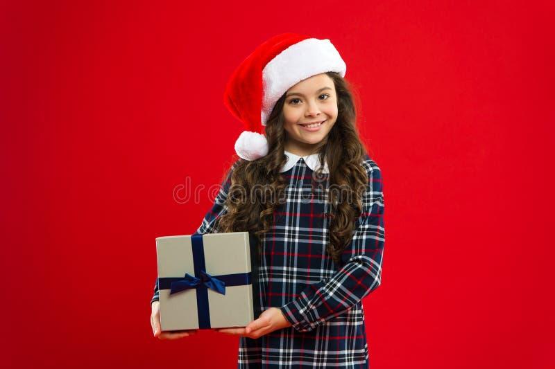 Presente para o Xmas para minha família Infância Partido do ano novo Criança de Santa Claus Compra do Natal, idéia para seu proje imagem de stock