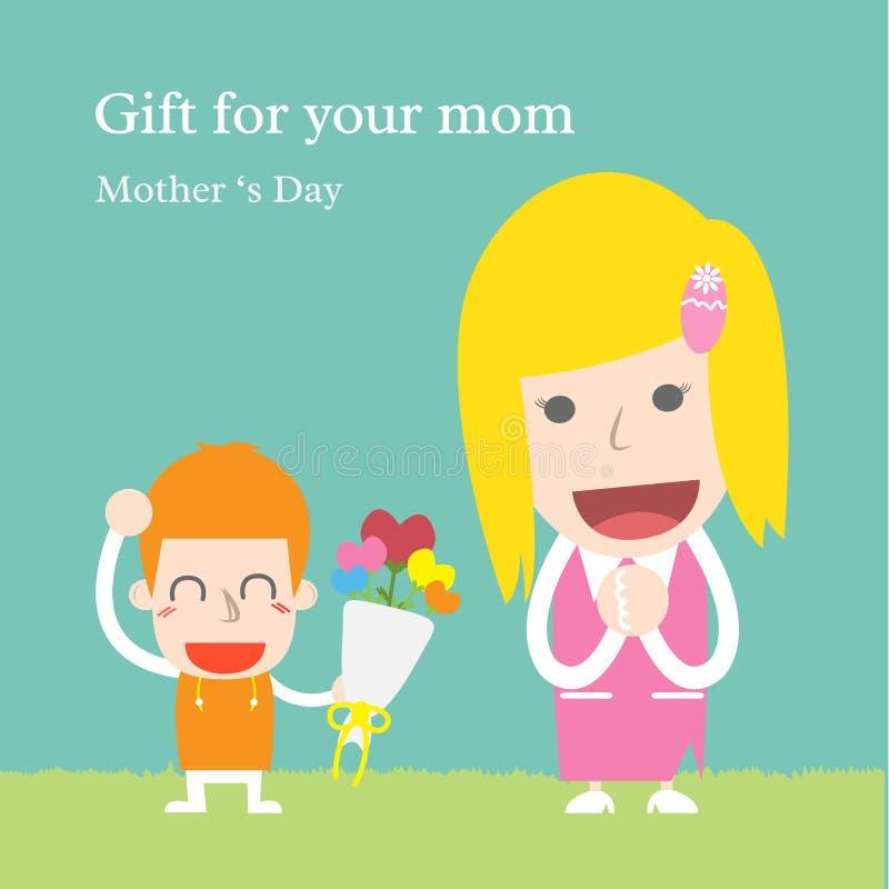 Presente para sua mamã ilustração royalty free