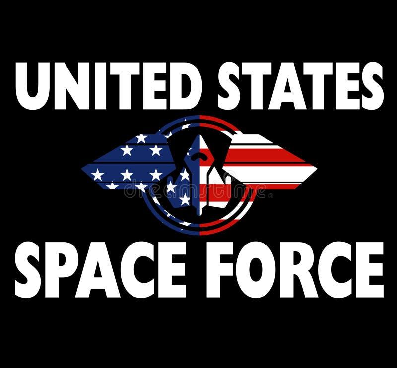 Presente patriótico da camisa da força do espaço do Estados Unidos ilustração royalty free