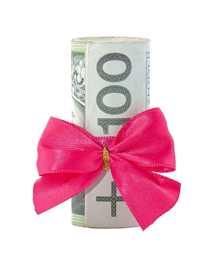 Presente polonês do dinheiro imagem de stock royalty free