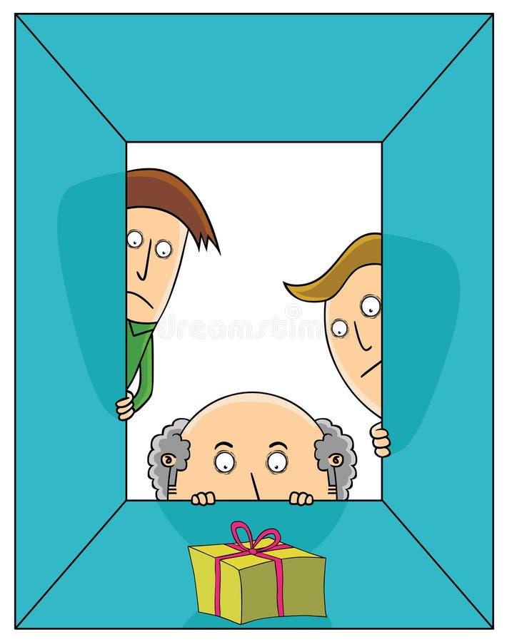 Presente sospechoso libre illustration