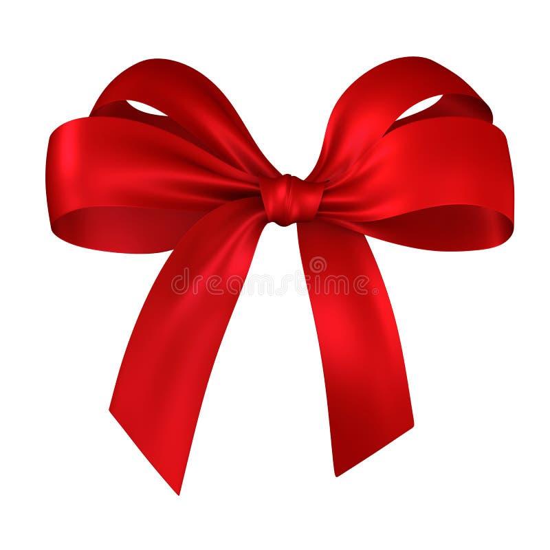 Presente vermelho, fita, curva ilustração royalty free