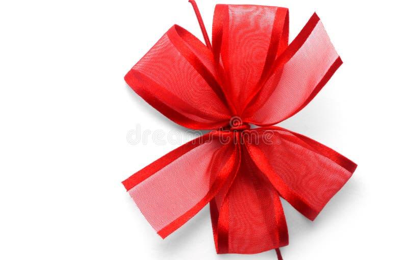 presente vermelho, fita, curva foto de stock royalty free