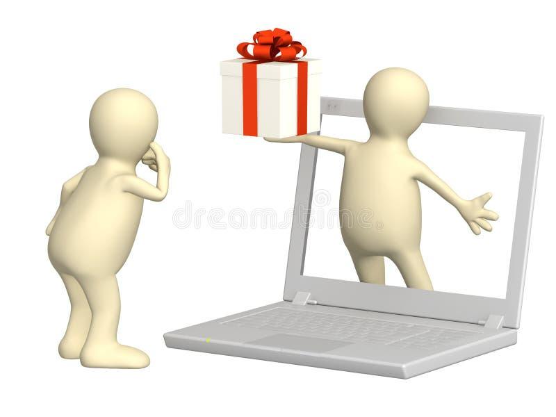 Presente virtual ilustração stock