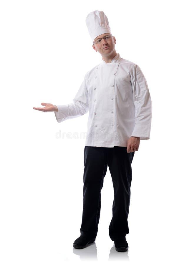 Presentera för kock royaltyfri bild