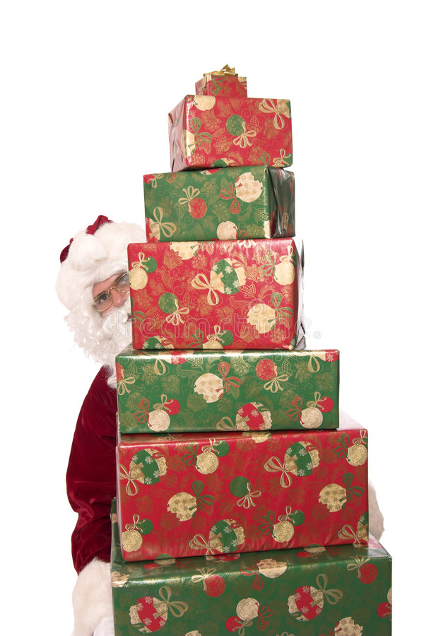Presentes 3 de Santa imagens de stock