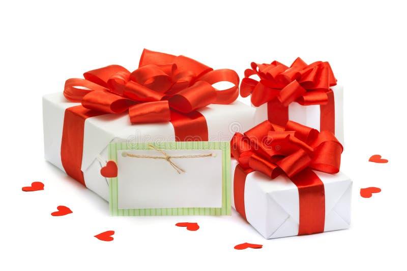 Presentes ao dia de Valentim, aniversário, março oitavo foto de stock royalty free