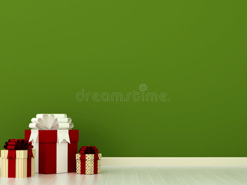Presentes coloridos ilustração stock