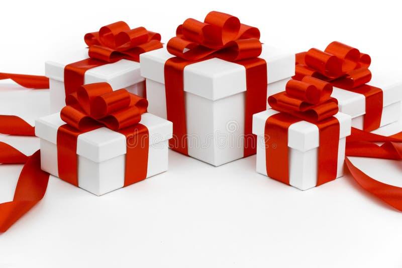 Presentes de época natalícia foto de stock
