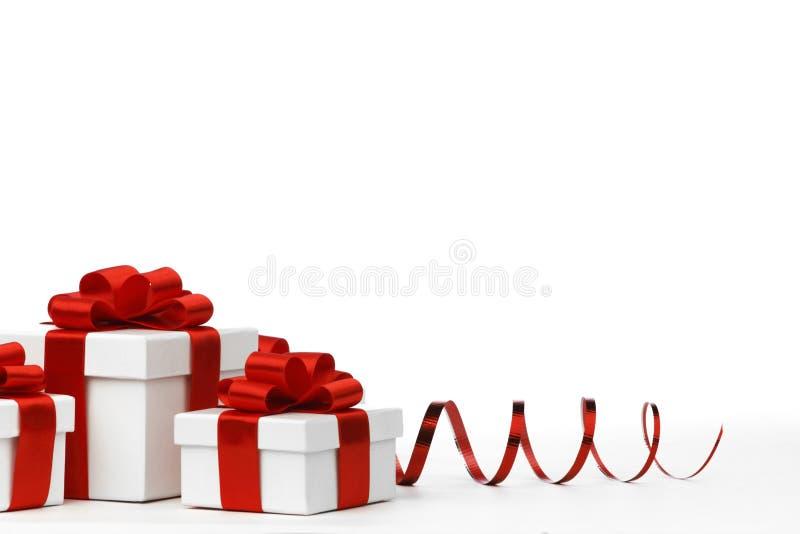 Presentes de época natalícia imagens de stock
