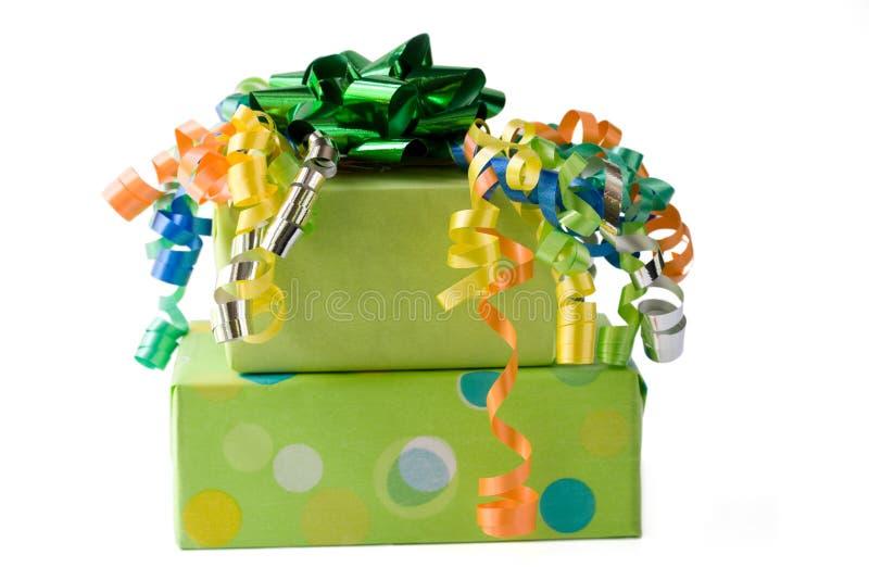 Presentes de cumpleaños foto de archivo