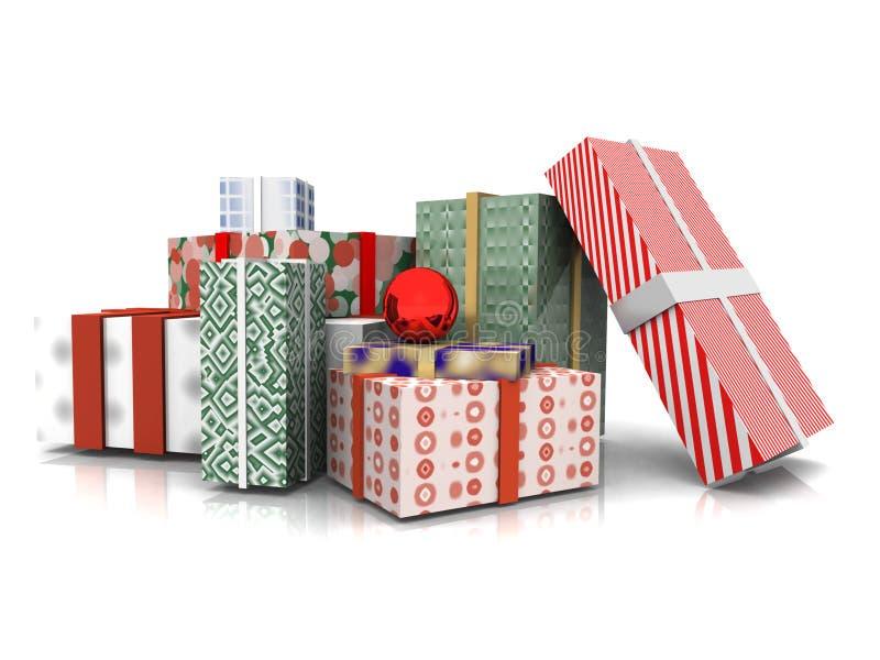 Presentes de Natal ilustração stock