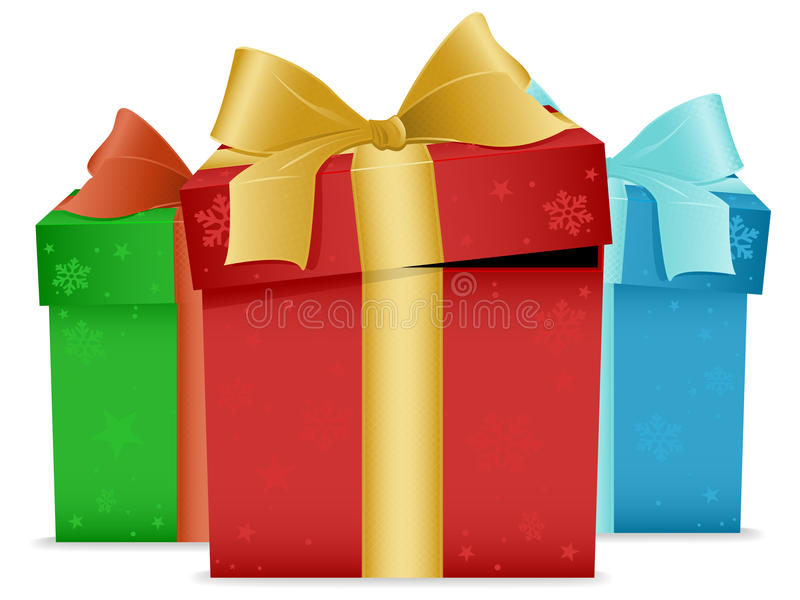 Presentes de Natal ilustração do vetor