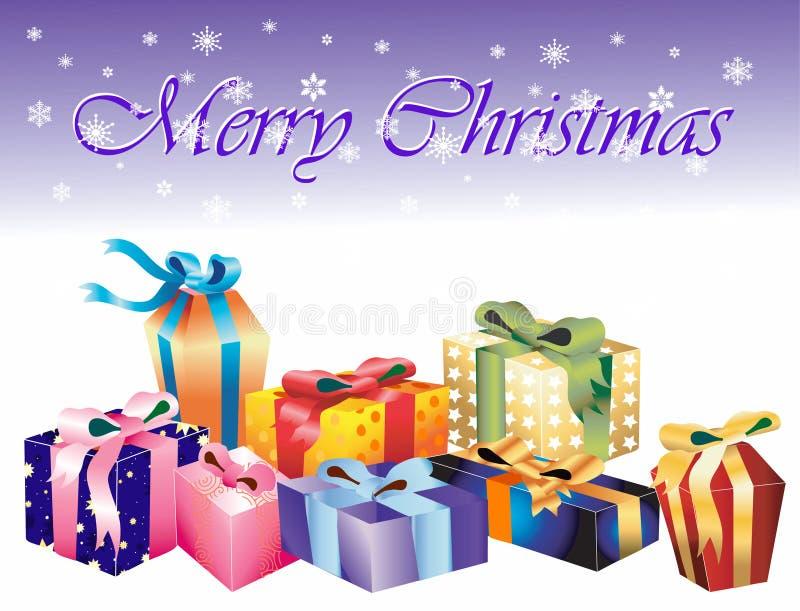Presentes de Natal. ilustração stock