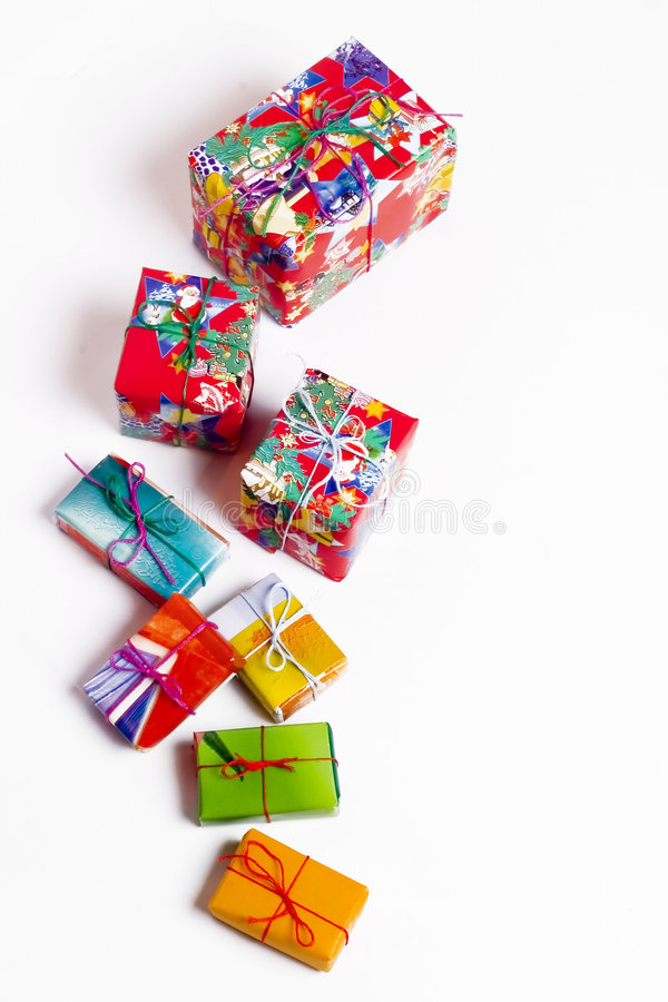 Presentes de Natal imagem de stock royalty free