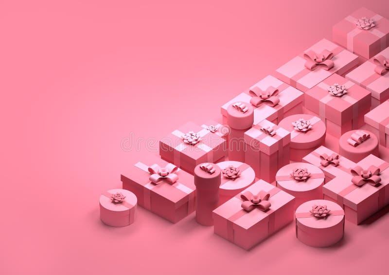 Presentes de Natal cor-de-rosa foto de stock royalty free