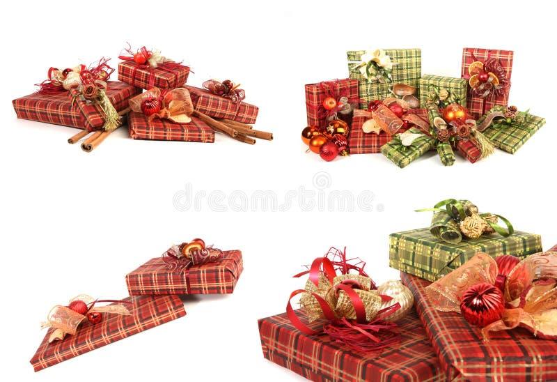 Presentes de Natal lindos foto de stock