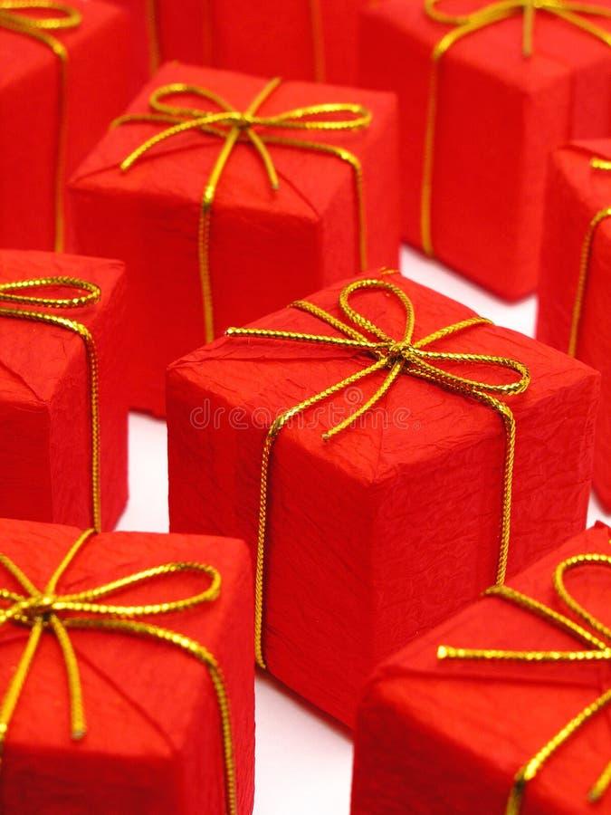Presentes de Natal vermelhos